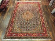 S.antique Hand Knotted Vintage Geometric Area Shiraaz Rug Carpet 7andrsquo5andrdquox10andrsquo92855