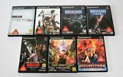 Ps2 Biohazard 4,codeveronica,outbreak 1and2,gun Survivor 2and3and4 7games Set Japan