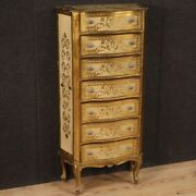 Painted Lacquered Tallboy Antique Style Tuscan Furniture Chest Of Drawers 900