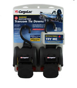 2-pack Marine Retractable Transom Tie Down 2500lbs Boat Trailer 2 Inch Strap 43