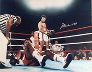 Muhammad Ali Autographed 16x20 Over George Foreman Boxing Photo Full Jsa Letter