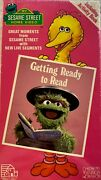 Sesame Street Getting Ready To Read Vhs Vintage 1986 Rare New