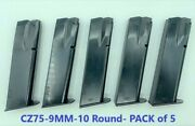 Pack Of 5 Iwi Cz 75/85/sp-01 9mm 10 Round Rd Blued Steel Magazine/mag/clip