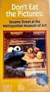 Sesame Street Donand039t Eat The Pictures Vhs1994 Metropolitan Museum Rare New
