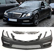 Amg Style Front Bumper W/ Drl W/o Pdc For 10-13 Mercedes Benz E-class W212 E550