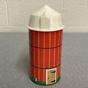 Fisher Price Vtg Little People 915 Silo Plastic Lid 2 Pce Only Nice Farm Toy
