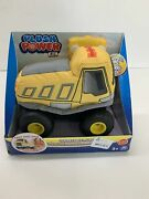 New In Box Plush Power Rc Remote Control Dump Truck W/ Soft Body And 2-way Steerin