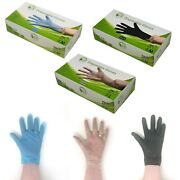 Tpe Disposable Gloves - 100 Recyclable / Thick / Latex Free / Vinyl Free