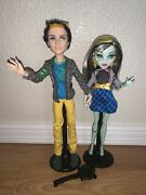 Monster High Doll Picnic Casket Frankie Stein And Jackson Jekyll 2-pack W/stands