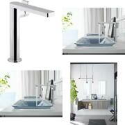 Composed Single-hole Single-handle Tall Vessel Bathroom Faucet With Lever Handle