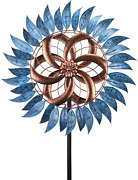 Large Metal Wind Mill Spinner Kinetic Outdoor Lawn Garden Decor Patio Stake Art