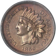 1859 Indian Head Cent Bu Penny Us Coin See Pics H119