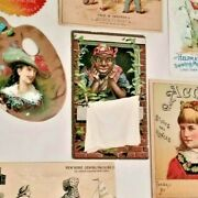 Lot Victorian Trade Cards 1880s On Stoves, Sewing Machines, Confectionery Etc.