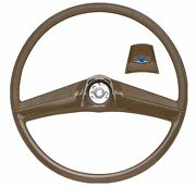 Oer Saddle Steering Wheel With Bow Tie Horn Cap 1969-1972 Chevy Pickup Truck