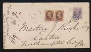 Us 153 And 161 Single And Pair Cover From Beach Creek To Easton Pa F-vf Scv 1550+