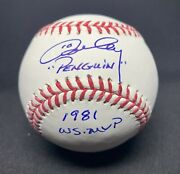 Ron Cey Signed And Inscribed Mlb Baseball Dodgers Psa Ac27425
