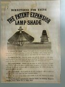 Vintage Ad Expansion Lamp Shade Late 1800's On Tissue Paper - Unique Framed 624