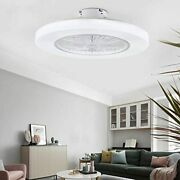 Orillon 22and039and039 Thin Modern Ceiling Fan With Light For Indoor Kitchen Bathroom Bedr