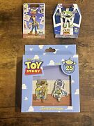 Disney Toy Story Limited Edition 25th Anniversary Pin Lot Buzz Woody Very Rare