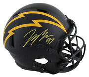 Chargers Joey Bosa Signed Eclipse Full Size Speed Rep Helmet Bas Witnessed