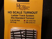 Micro- Engineering 14-710 Ho Ladder Track System Turnout Lh 5a Code 83