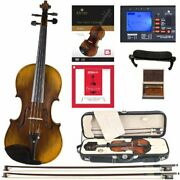 Cecilio Cvn-600 Hand Oil Rub Highly Flamed 1-piece Back Solidwood Violin
