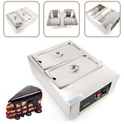 Stainless Steel 110v Electric 10kg Chocolate Melter Tempering Machine 2 Pots