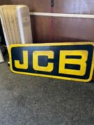 Jcb Black And Yellow Wooden Wall Sign