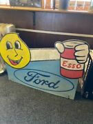Ford Esso Wooden Sign