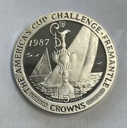 1997 Isle Of Man Americaandrsquos Cup Challenge Trophy 5 Crowns 5 Oz Silver Proof