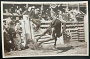 Mint Usa Real Picture Postcard Round Up Time Pendleton Oregon Rodeo Smith Photo