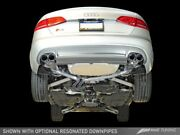 Awe Tuning 2010-2016 Audi S4 3.0t B8 Touring Catback Exhaust 90mm Chrome Tips