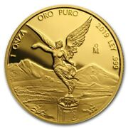 Libertad Andndash Mexico Andndash 2019 1 Oz Proof Gold Coin In Capsule