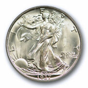 1937 S 50c Walking Liberty Half Dollar Pcgs Ms 65 Uncirculated Exceptional