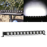 30and039and039 Spot Led Light Bar W/wiring Driving For Trucks Jeep Atv Utv Suv Boat Marine