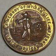 Hk-894d Army Life On The Mexican Border Ww One Good Luck Token Very Scarce