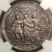 Hk-325 Sh 14-11905 Lewis And Clark Exposition Official Medal Ngc Au53 Original