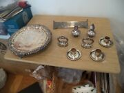 Vintage Silverplate Silverware Lot Of 8 Not Sure Of Pieces