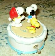 1972 Snoopy, Woodstock,and Girl Friend, All Skating Vintage Music Box, Collectors