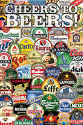 Cheers To Beers Labels College Poster 24x36 Inch