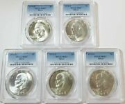 1971 S To 1976 Eisenhower Dollar Lot Silver - Ms 67