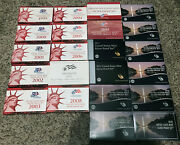 1999-2020 U.s. Mint Silver Proof Coin Sets Complete W/state Quarters And More
