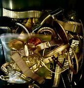 Scrap Gold Jewelry Pocket Watch Cases Solid Gold Movado 1500g + 970 G Comp Board