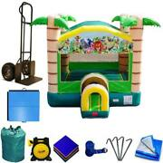 Commercial Inflatable Bounce House Modular Jungle Jump House Bouncer And Blower
