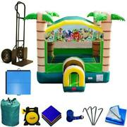 Commercial Inflatable Bounce House Package Kids Tropical Paradise Jump Castle