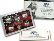 2006 United States Mint 50 State Quarter Silver Proof Set -- Box And Coa