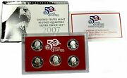 2007 United States Mint 50 State Quarter Silver Proof Set -- Box And Coa
