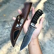 Hunting Knife Knives Handmade Damascus Steel Tactical Survival Camping Tool