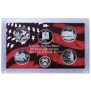2008 United States Mint 50 State Quarter Silver Proof Set -- Box And Coa
