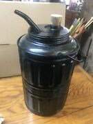 1878 Queen Glass And Steel Kerosene Can For Filling Lamps Stoves Lanterns Original